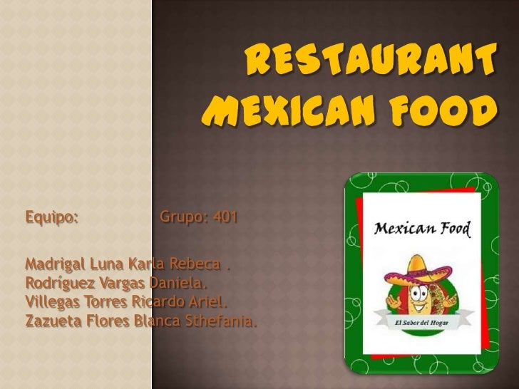 Restaurant mexican food 2