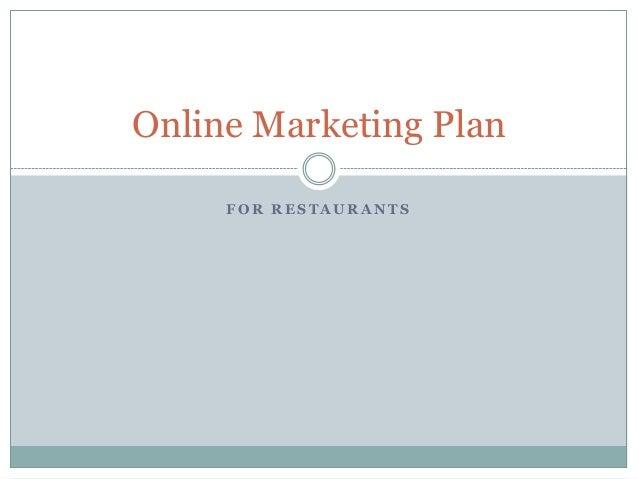 Restaurant online marketing plan