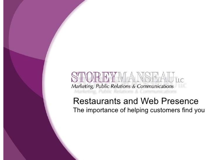 Restaurants and internet presence