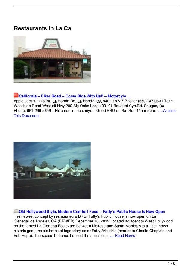 Restaurants In La Ca   California – Biker Road – Come Ride With Us!! – Motorcyle …Apple Jacks Inn 8790 La Honda Rd, La Hon...