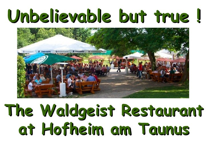 Hofheim Germany  city pictures gallery : Waldgeist Restautant in Hofheim, Germany