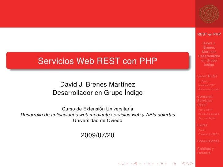Servicio y Consumo de Servicios REST en PHP