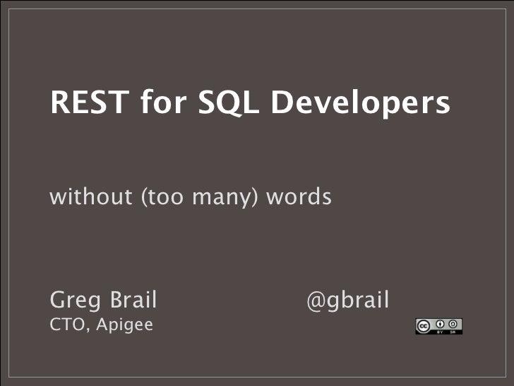 REST API Design for SQL developers