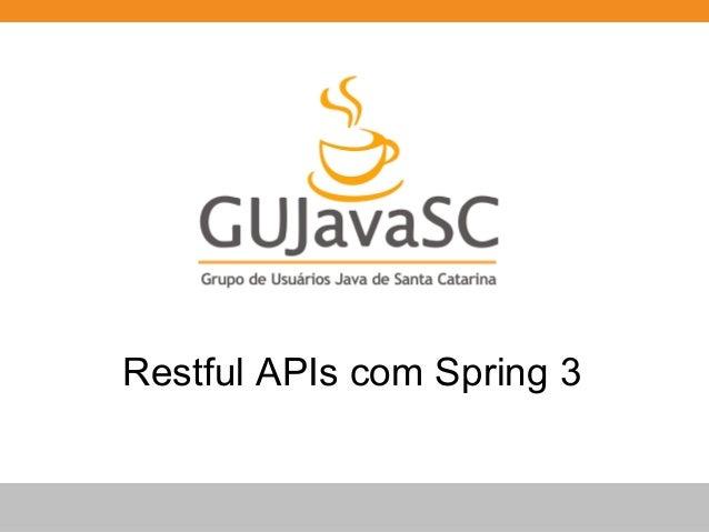 Restful APIs com Spring 3