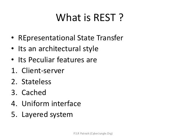 Introduction to RESTful Webservices  in JAVA