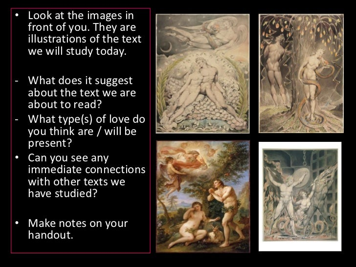 Look at the images in front of you. They are illustrations of the text we will study today.<br /><ul><li>What does it sugg...