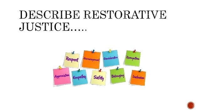 explaining the theory of restorative justice 123rd international senior seminar visiting experts' papers 47 restorative justice: theories and worries john braithwaite* i theories of why restorative justice.