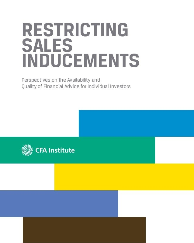 Restricting sales inducements