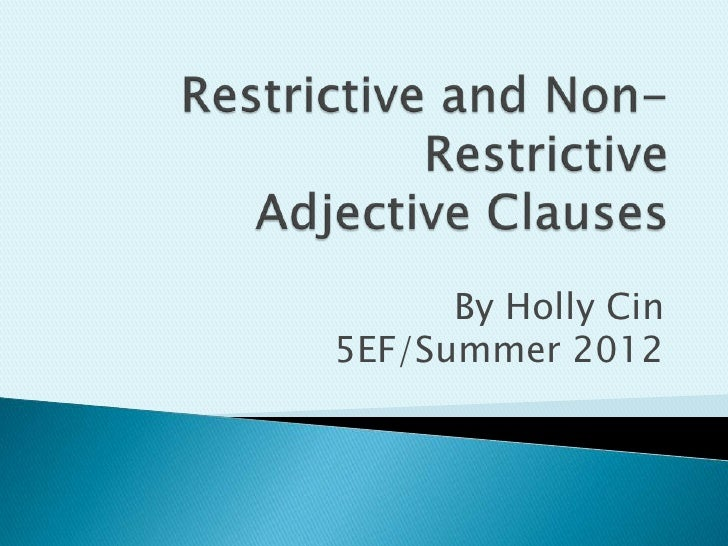 Restrictiveclauses