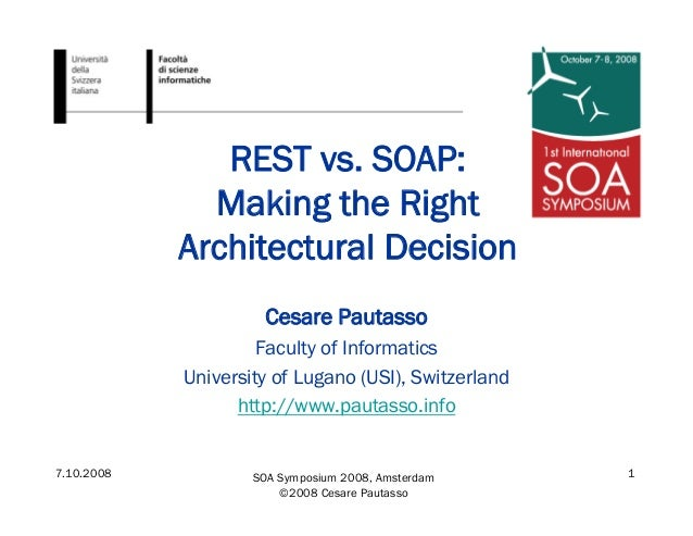 REST vs. SOAP: Choosing the best web service