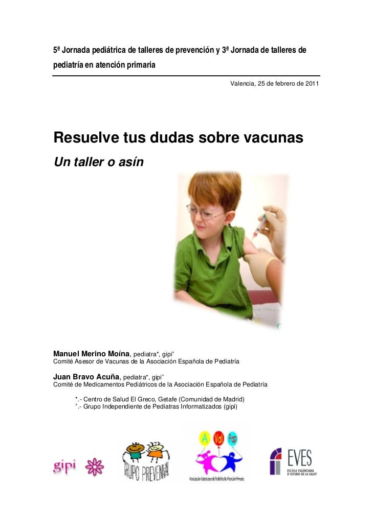 5ª Jornada pediátrica de talleres de prevención y 3ª Jornada de talleres depediatría en atención primaria                 ...