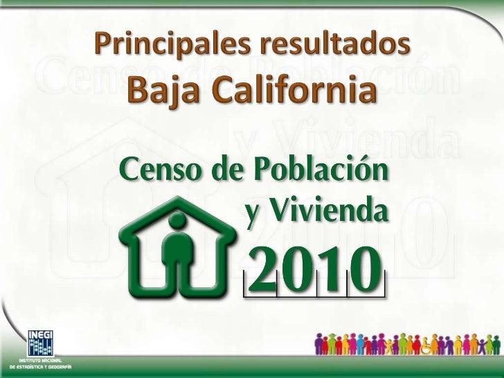 Principales resultadosBaja California<br />