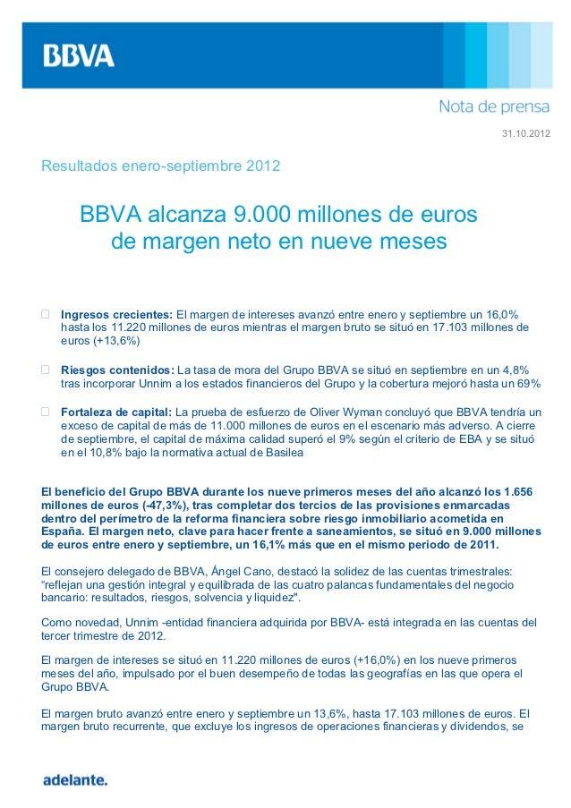 Resultados bbva