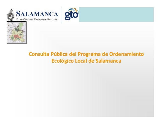 Consulta Pública del Programa de Ordenamiento Ecológico Local de Salamanca