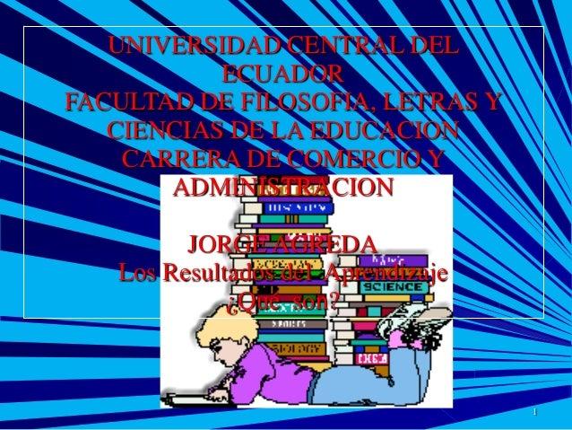 UNIVERSIDAD CENTRAL DEL ECUADOR FACULTAD DE FILOSOFIA, LETRAS Y CIENCIAS DE LA EDUCACION CARRERA DE COMERCIO Y ADMINISTRAC...