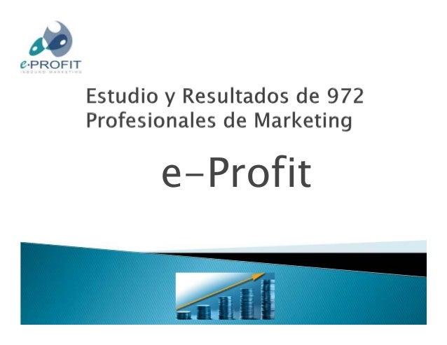 Resultados en inbound marketing de 972 marketers  01 03 12