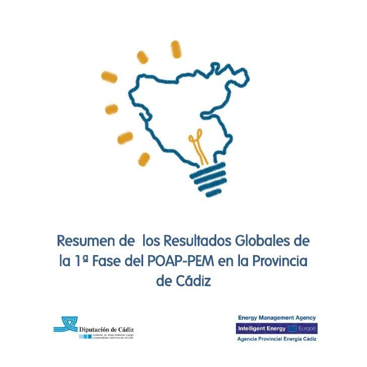 Resumen de los Resultados Globales dela 1ª Fase del POAP-PEM en la Provincia                de Cádiz