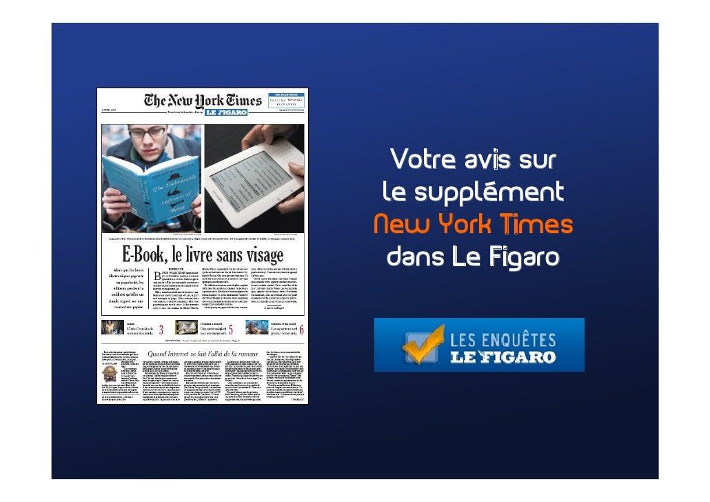 Votre avis sur  le supplément New York Times  dans Le Figaro
