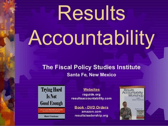 Results based accountability101 (2013)