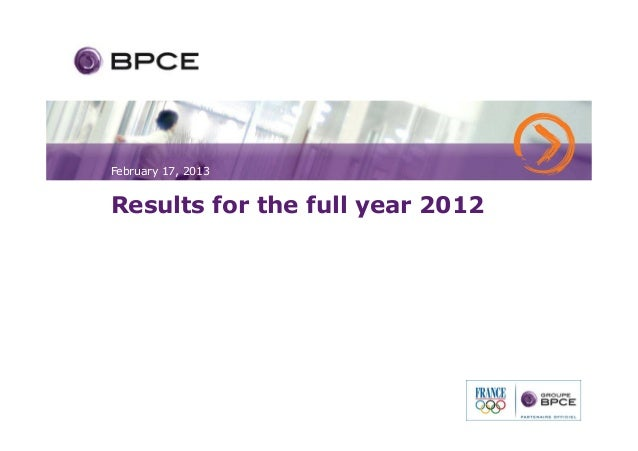 February 17, 2013Results for the full year 2012