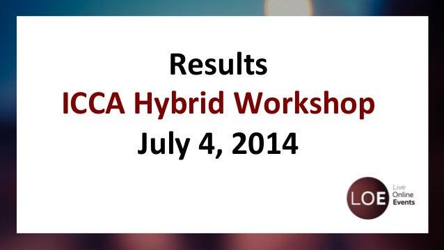 #ICCAWorld Hybrid Workshop 2014 - Statistics