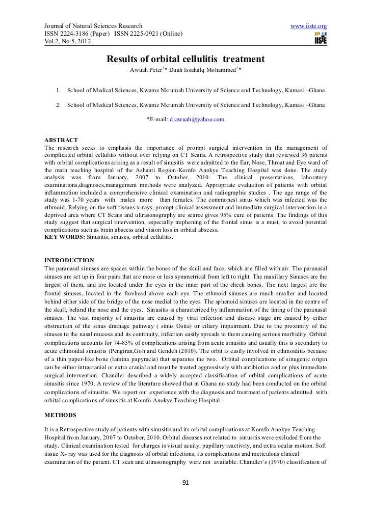 Journal of Natural Sciences Research                                                                 www.iiste.orgISSN 222...