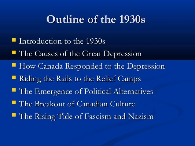 thesis on the great depression