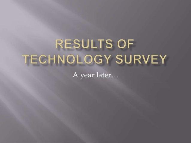 Results of technology survey