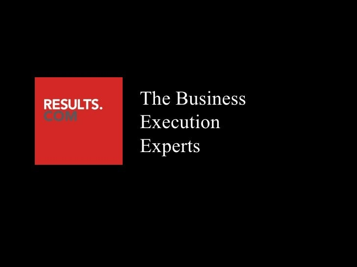 The Business Execution Experts