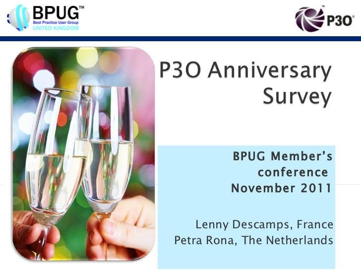 P3O Survey 2011
