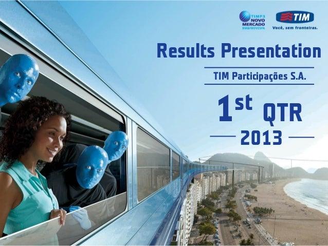 Results presentation 1 q13