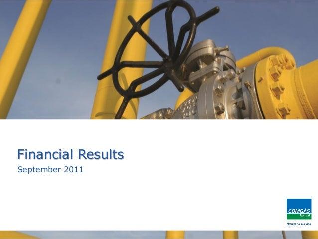 1Financial ResultsSeptember 2011