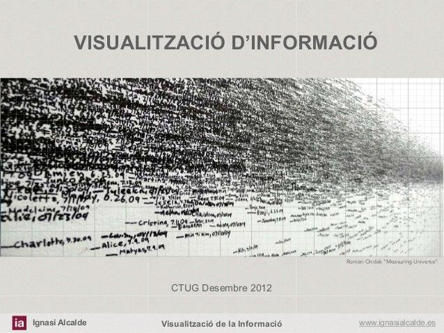 """VISUALITZACIÓ D'INFORMACIÓ                                                  Roman Ondak """"Measuring Universe""""              ..."""