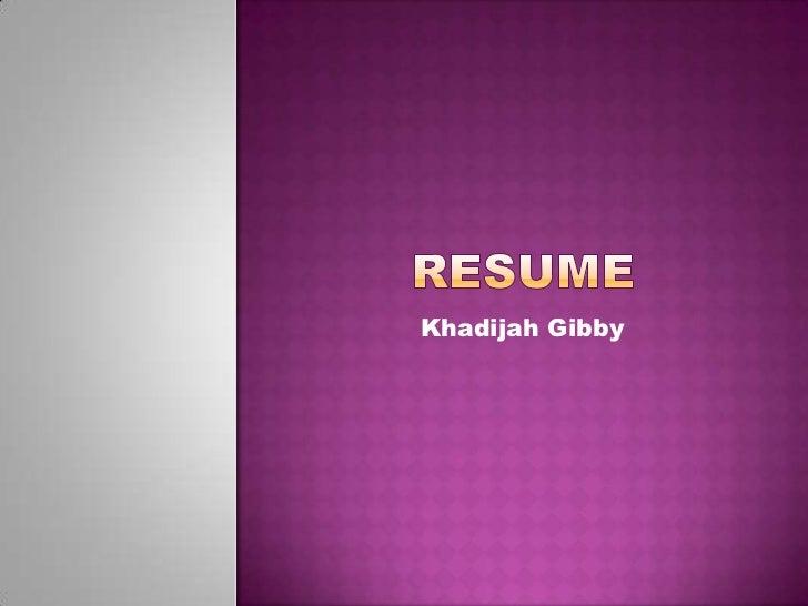 Khadijah Gibby