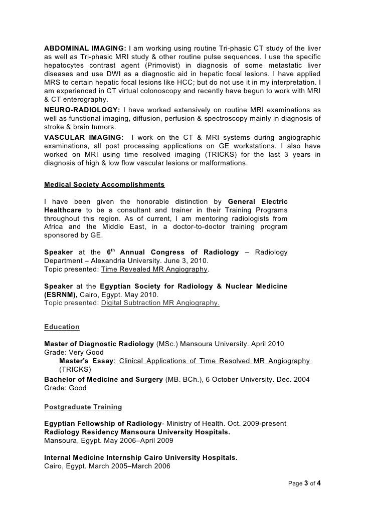 Radiologist Resume 25.07.2017