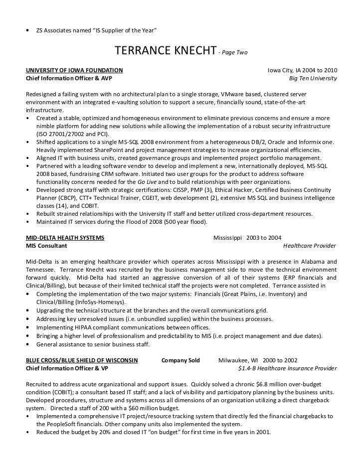Resume For Zs Associates 2.  ZS Associates ...