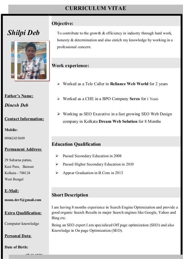 Telecaller resume sample