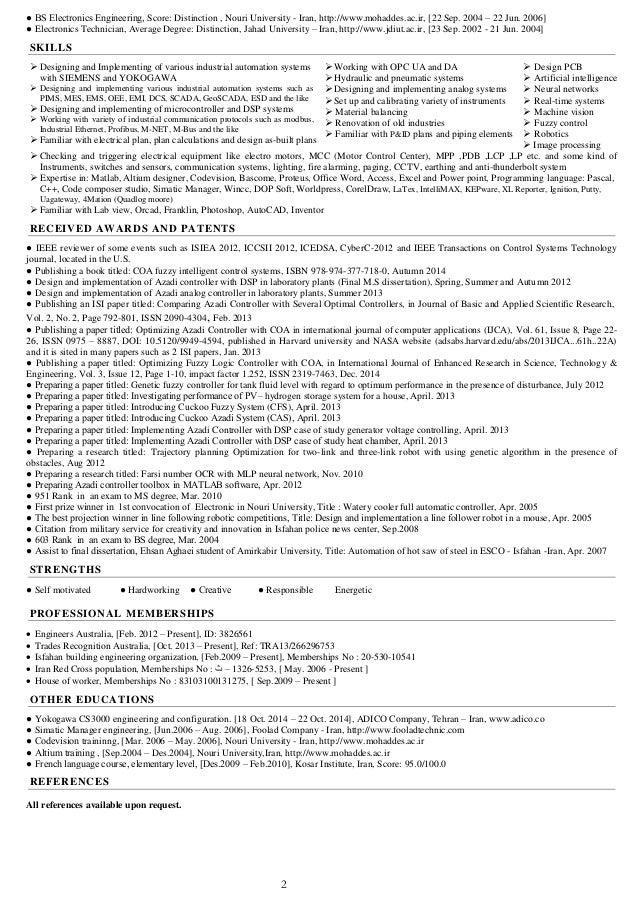 Distinction on resume