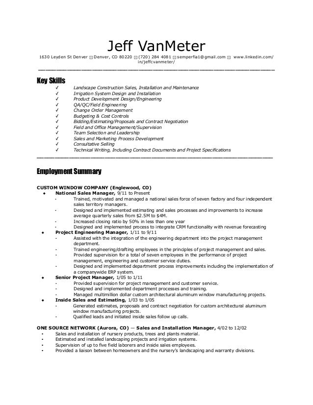 Resume with church volunteer experience