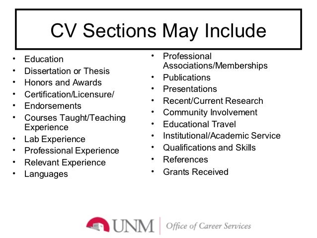 CV/Resume/Letters of Intent Preparation