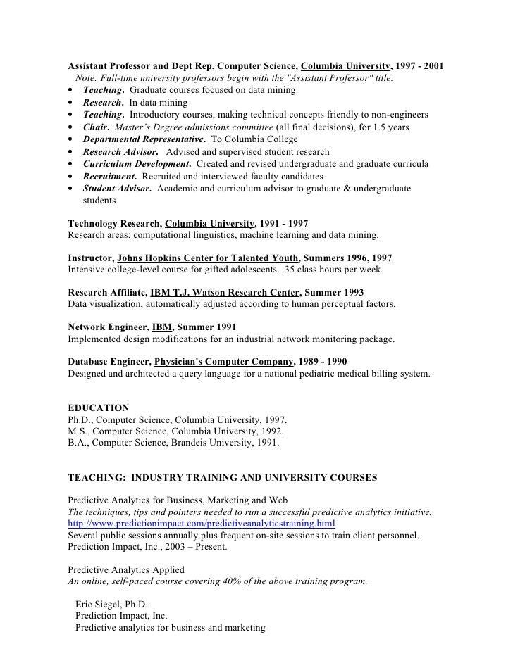 resume for work in predictive analytics resume for work
