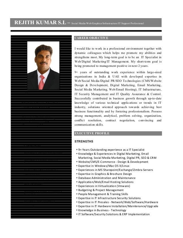 REJITH KUMAR S.L – Social Media/Web/Graphics/Infrastructure/IT Support Professional                                       ...