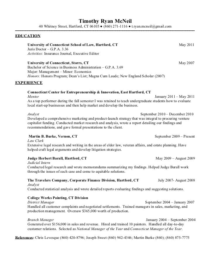 Resume sample law internship certificate format
