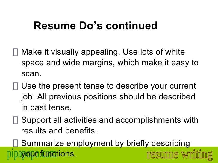 resume past tense funny short essay