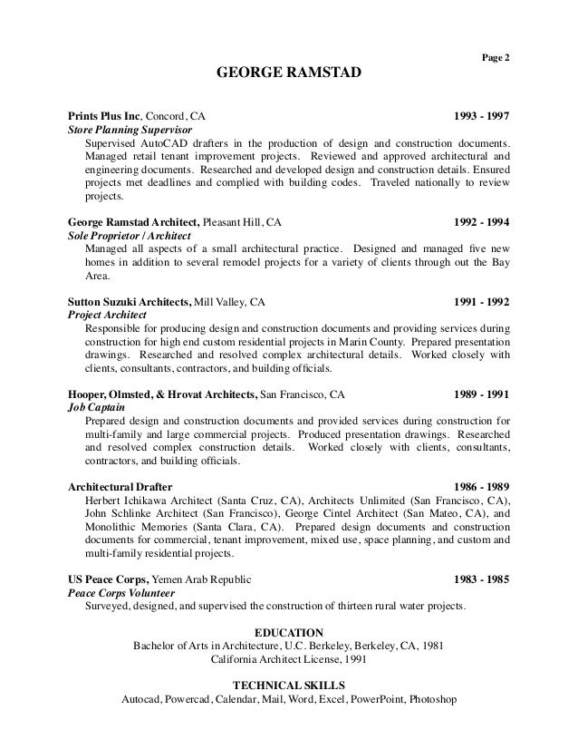 peace corps resume examples