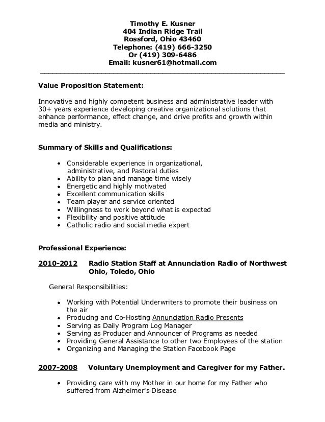 Resume1 1.5 Page
