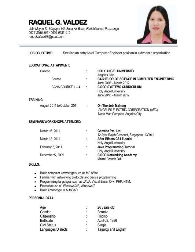 Tagalog Resume Format Loreytoeriverstorytellingorg