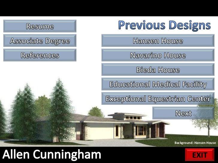 Allen Cunningham Resume/Portfolio