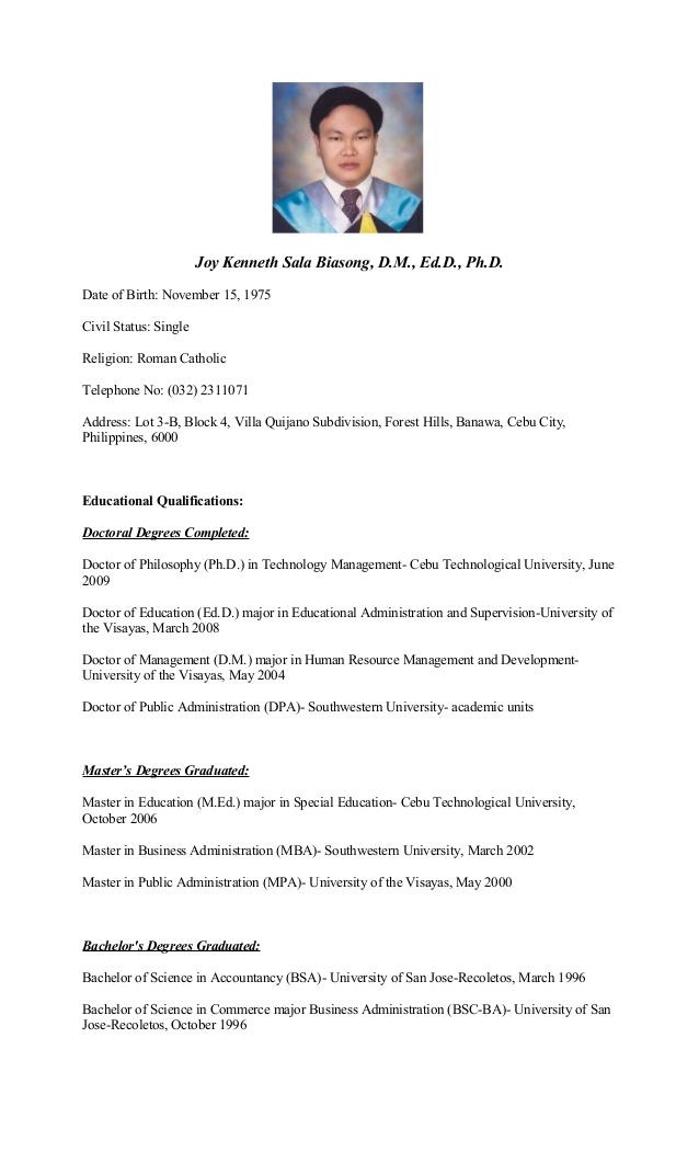 Resume For Hrm Students curriculum-vitae-of-dr-joy-kenneth-sala-biasong-1-638.jpg?cb
