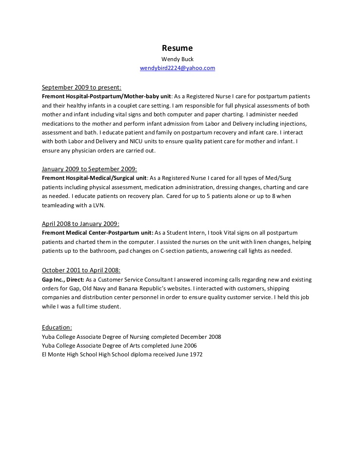 nursing cv template nurse resume examples sample registered rn licensed practical nurse resume thumb - How To Write A Nurse Resume